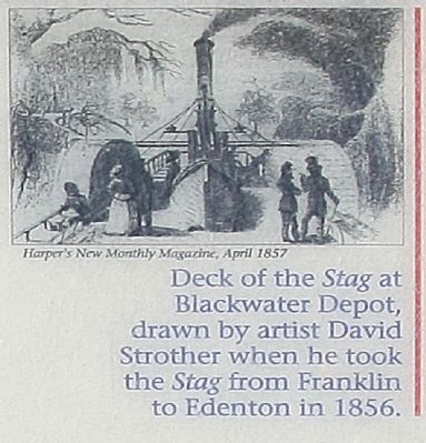 Deck of the <i>Stag</i> at Blackwater depot... image. Click for full size.
