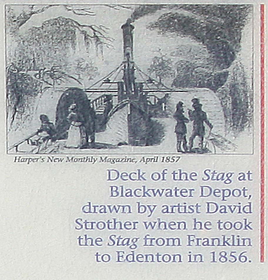 Deck of the <i>Stag</i> at Blackwater depot...