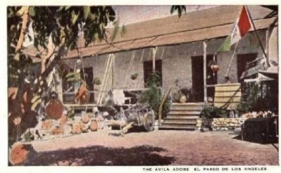 The Avila Adobe - El Paseo de Los Angeles image. Click for full size.