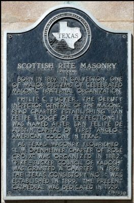 Scottish Rite Masonry Marker image. Click for full size.