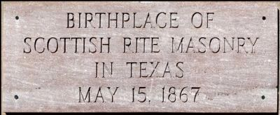 Scottish Rite Masonry Plaque image. Click for full size.