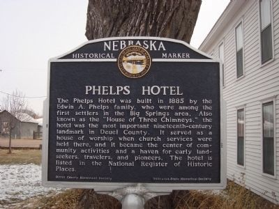 Phelps Hotel Marker image. Click for full size.