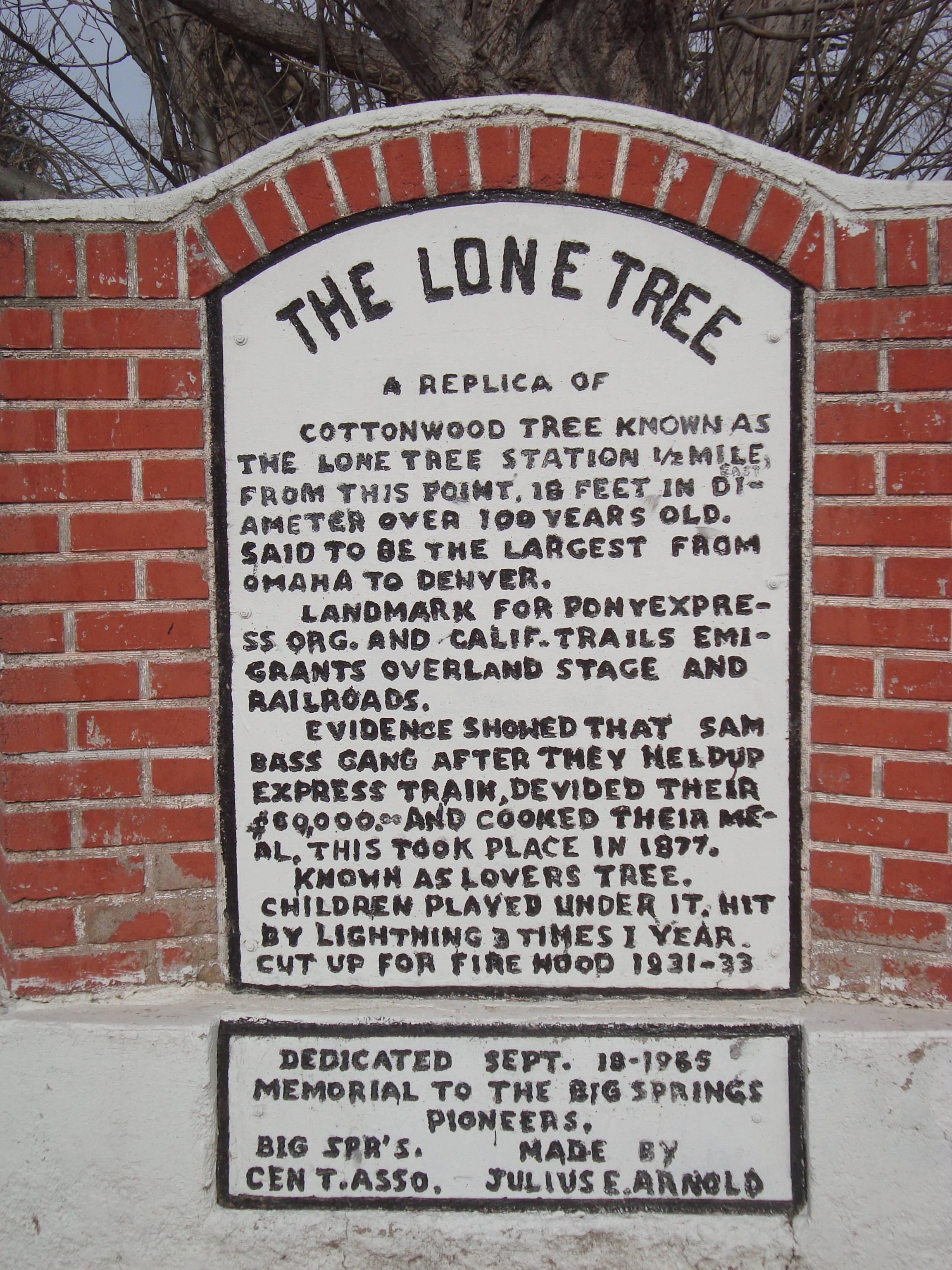 The Lone Tree Marker