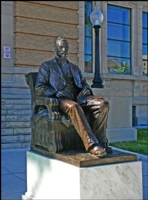 Statue of Henry Rosenberg Who Bequeathed Funds for the Creation of the Library image. Click for full size.