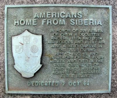 Americans Home From Siberia Marker image. Click for full size.