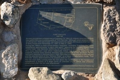 Fort Pah-Ute Marker image. Click for full size.