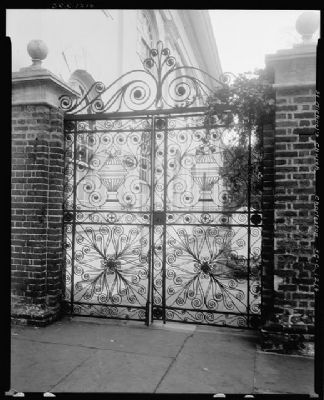 St Michael's Episcopal Church gate image. Click for full size.