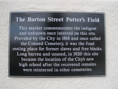 The Barton Street Potter's Field Marker image. Click for full size.