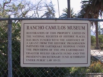 Rancho Camulos Museum image. Click for full size.