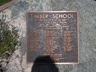 Timber School Marker image. Click for full size.
