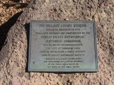 Tri-Village Living Museum Marker image. Click for full size.