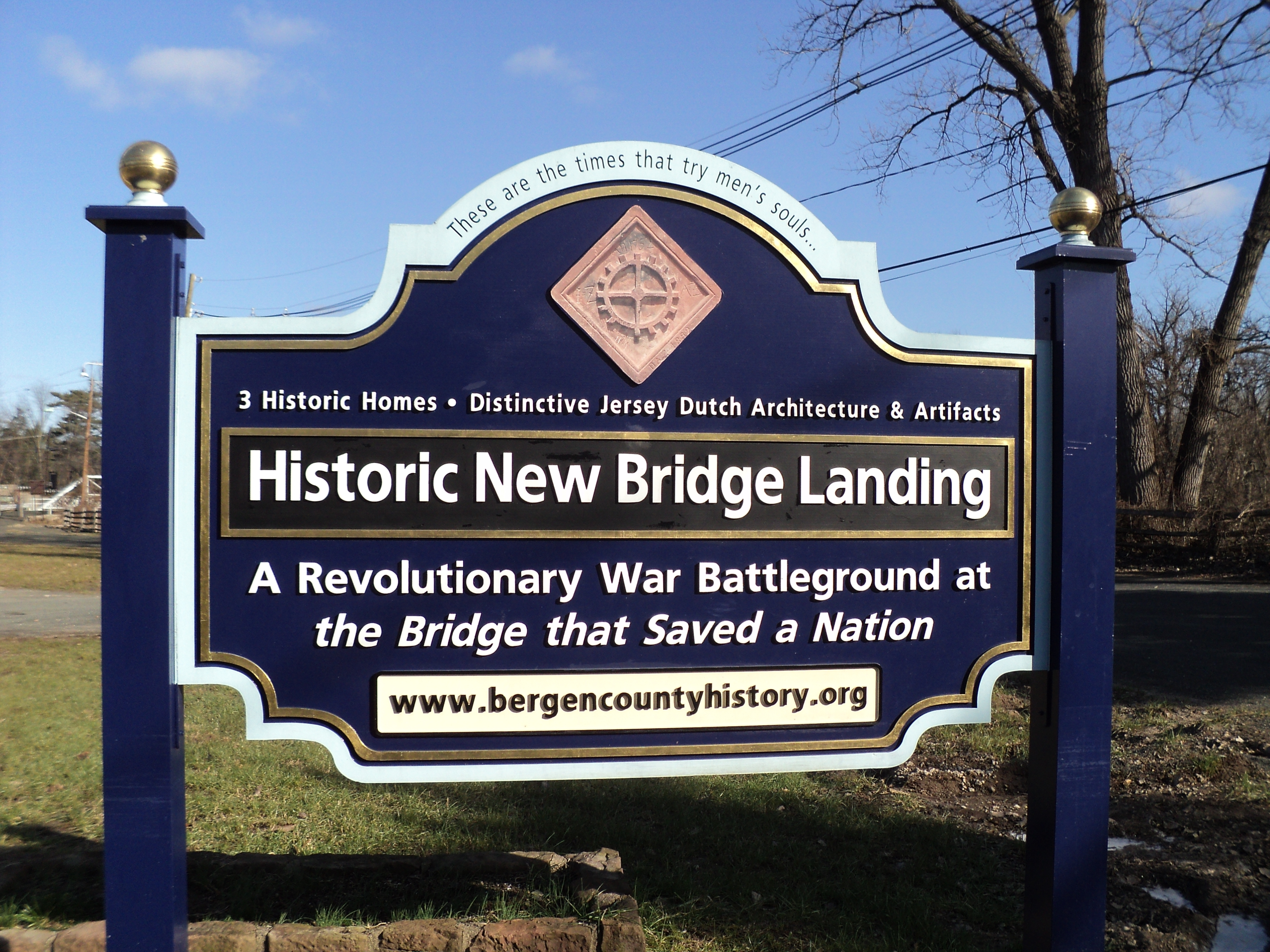 Historic New Bridge Landing Marker
