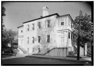 Col. William Rhett House Historic American Engineering Record image. Click for full size.