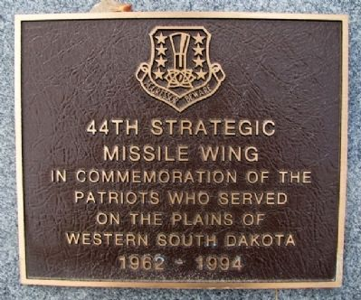 44th Strategic Missile Wing Marker image. Click for full size.
