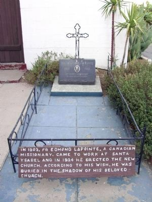 Gravesite of Fr. Edmond LaPointe image. Click for full size.