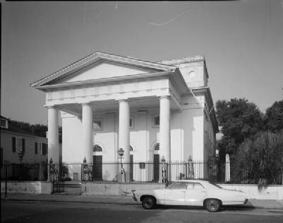 First Baptist Church ,61 Church Street,  Historic American Engineering Record image. Click for full size.
