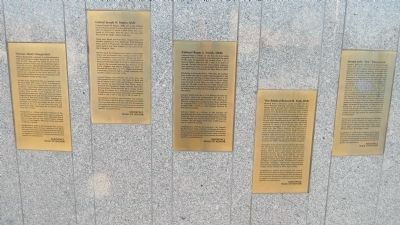 Aerospace Walk of Honor Inductee Plaques image. Click for full size.