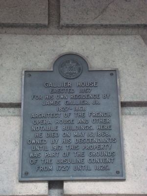 Gallier House Marker image. Click for full size.