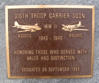 316th Troop Carrier Squadron Marker image. Click for full size.