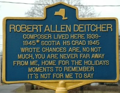 Robert Allen Deitcher Marker image. Click for full size.