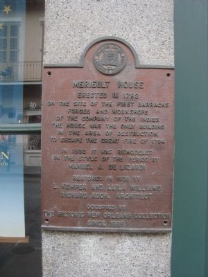 Merieult House Marker image. Click for full size.