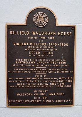 Rillieux – Waldhorn House Marker image. Click for full size.