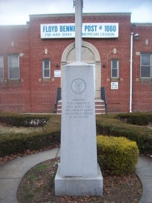 Floyd Bennett Post # 1060 Marker image. Click for full size.