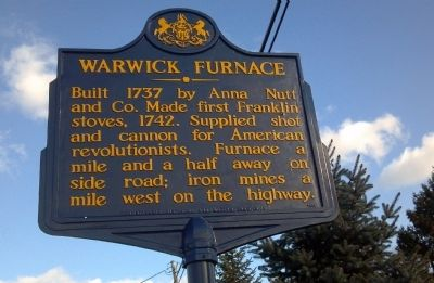 Warwick Furnace Marker image. Click for full size.