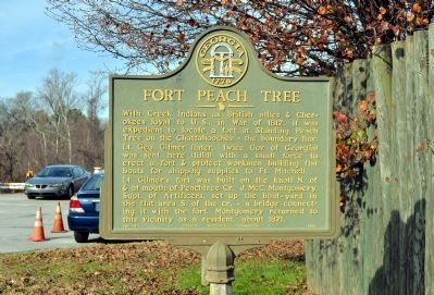 Fort Peach Tree Marker image. Click for full size.