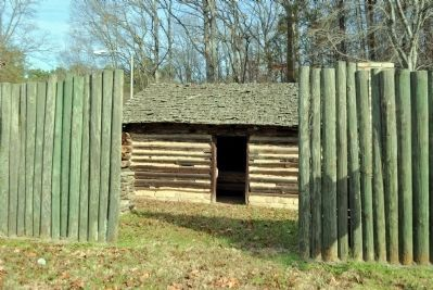 Fort Peach Tree (Replica) image. Click for full size.
