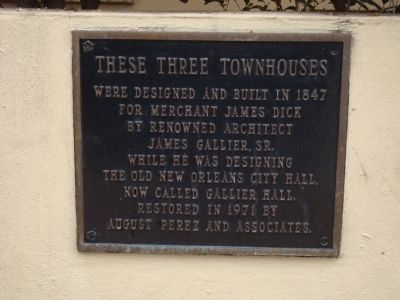 These Three Townhouses Marker image. Click for full size.
