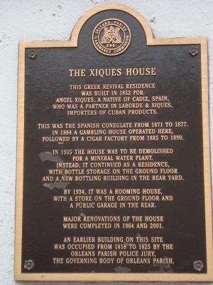 The Xiques House Marker image. Click for full size.