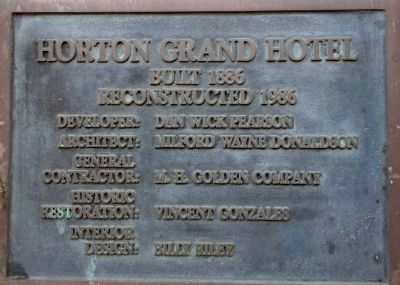 Horton Grand Hotel image. Click for full size.
