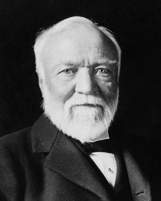 Andrew Carnegie, American businessman and philanthropist. image. Click for full size.