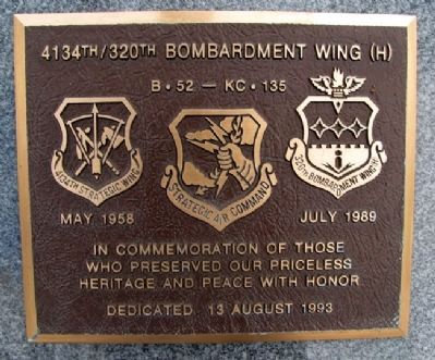 4134th / 320th Bombardment Wing (H) Marker image. Click for full size.