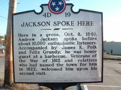 Jackson Spoke Here Marker image. Click for full size.