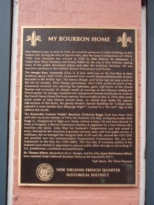 My Bourbon Home Marker image. Click for full size.