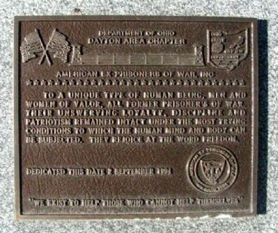 American Ex-Prisoners of War, Inc Marker image. Click for full size.