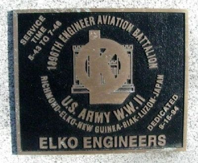1896th Engineer Aviation Battalion Marker image. Click for full size.