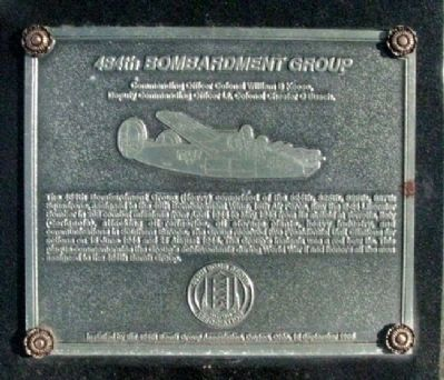 484th Bombardment Group Marker image. Click for full size.