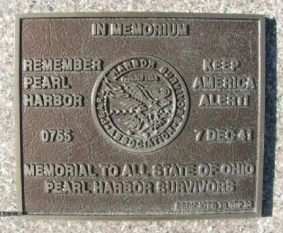 State of Ohio Pearl Harbor Survivors Marker image. Click for full size.