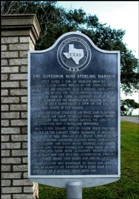 Governor Ross Sterling Mansion Marker image. Click for full size.