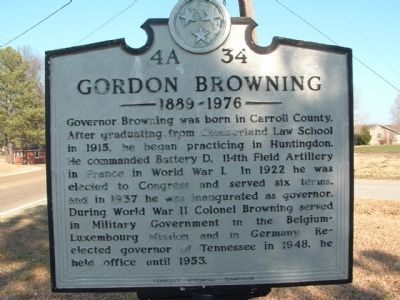 Gordon Browning Marker image. Click for full size.