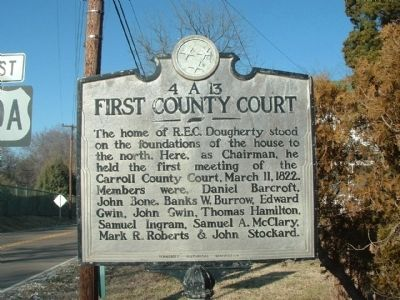 First County Court Marker image. Click for full size.