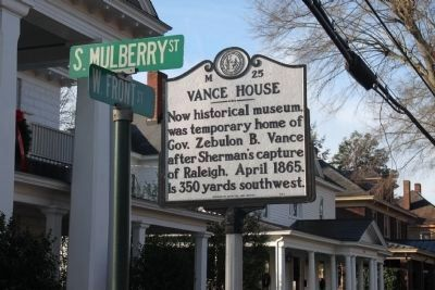 Vance House Marker image. Click for full size.