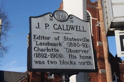 J. P. Caldwell Marker image. Click for full size.
