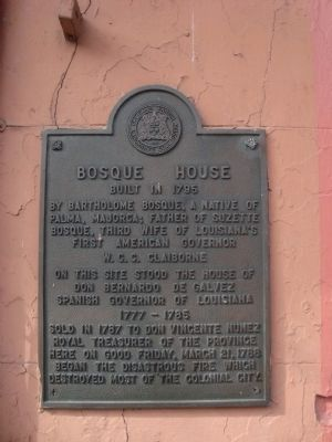 Bosque House Marker image. Click for full size.