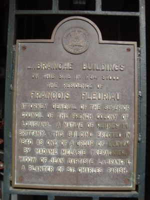 LaBranche Buildings Marker image. Click for full size.