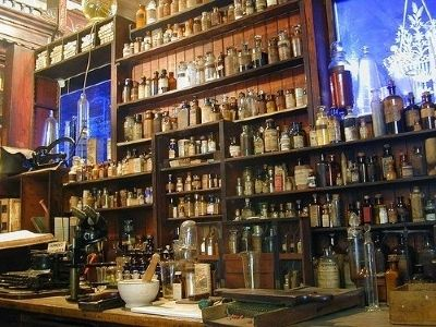 Interior of the Old Pharmacy Museum image. Click for full size.
