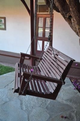 Wooden Porch Swing image. Click for full size.
